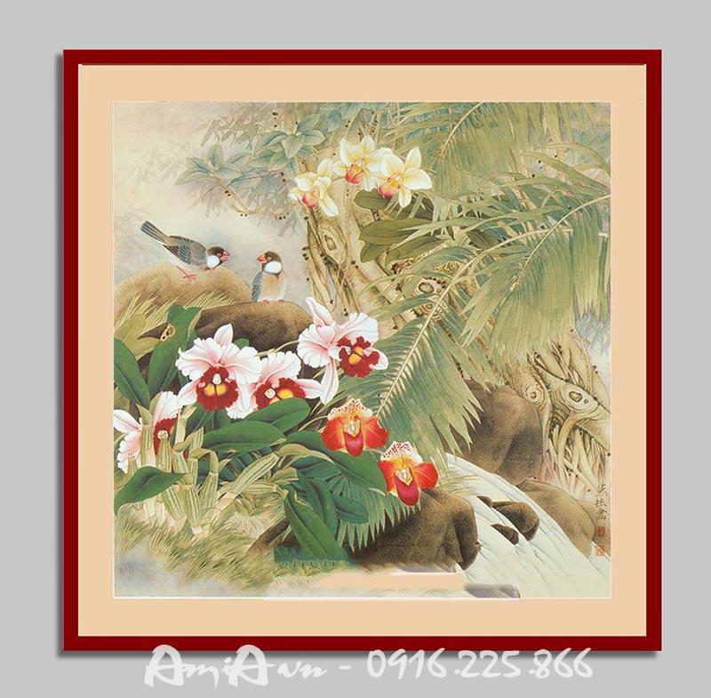 Hinh anh buc tranh canvas hoa dieu dep nghe thuat AmiA 4157