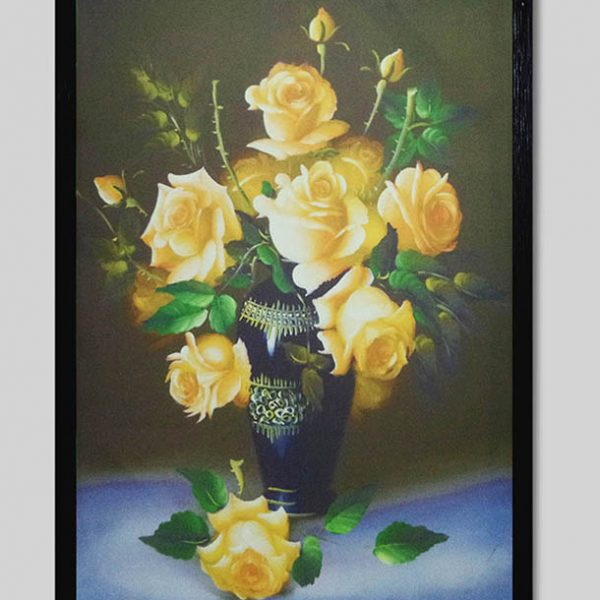 Hinh anh tranh canvas binh hoa hong dep AmiA