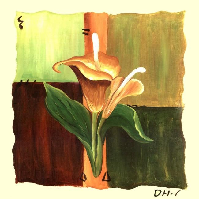 Hinh anh tranh canvas mot tam hoa rum AmiA 4141