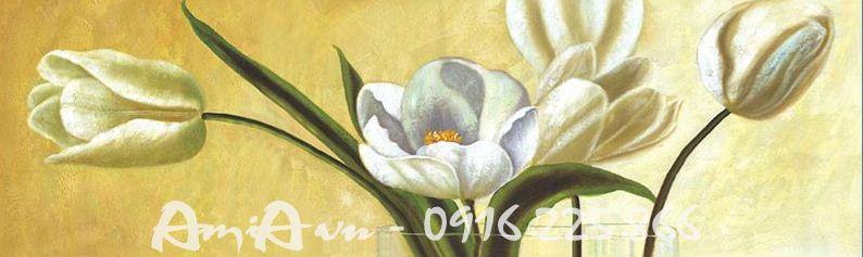 Hinh anh tranh canvas binh hoa tulip mot tam AmiA