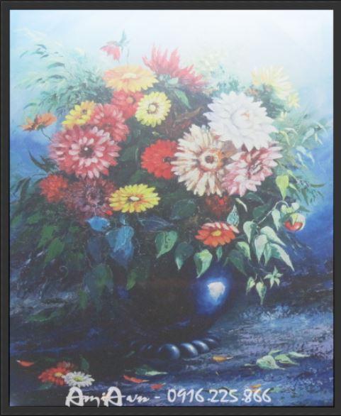 tranh canvas binh hoa cuc