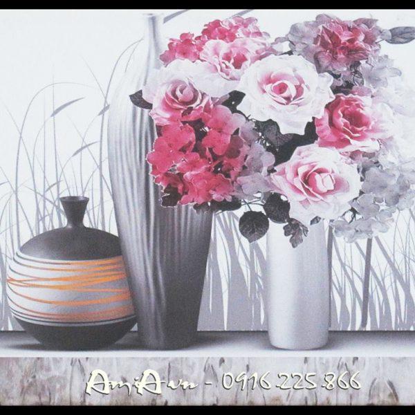 tranh binh hoa hong dep
