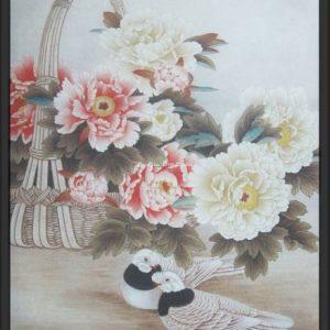 tranh hoa mau don dep