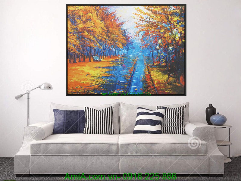 tranh canvas phong canh thien nhien mua thu