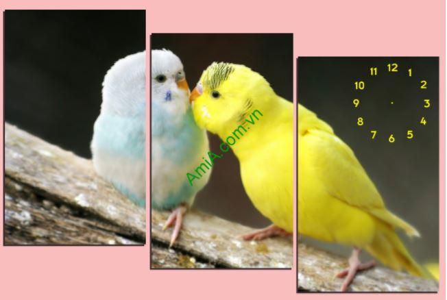 tranh doi chim treo phong ngu khach san