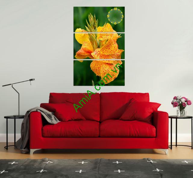 tranh hoa lan dep treo tuong