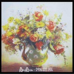 tranh in canvas binh hoa phu quy