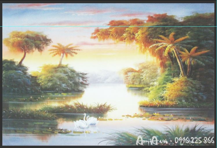 tranh phong canh que huong in canvas