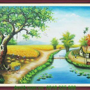 tranh phong canh que huong