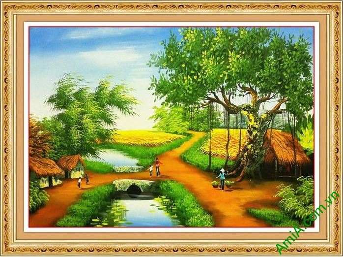 tranh son dau phong canh