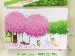 tranh phong canh goc pho chieu thu