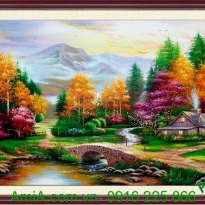 tranh phong canh thien nhien mua thu