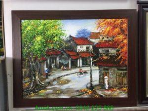 tranh phong canh pho co Ha Noi