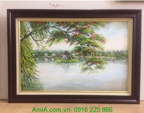 tranh phong canh ho Guom ve son dau