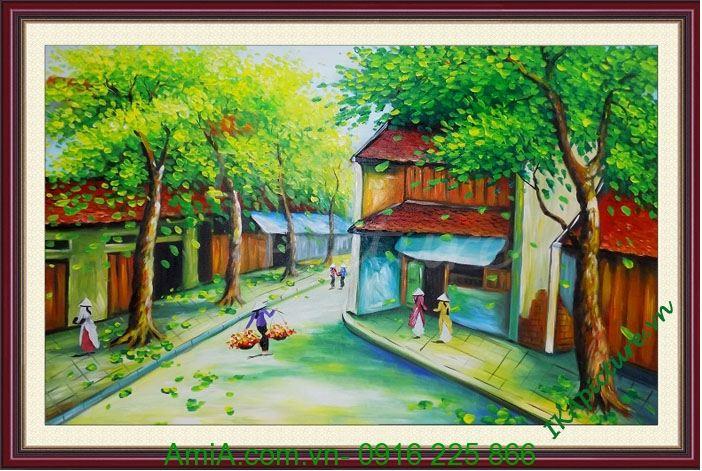tranh ve son dau de tai phong canh Ha Noi