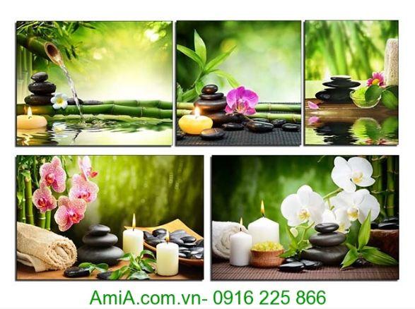 tranh trang tri spa hoa lan