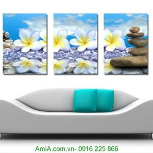 tranh hoa dai trang tri spa