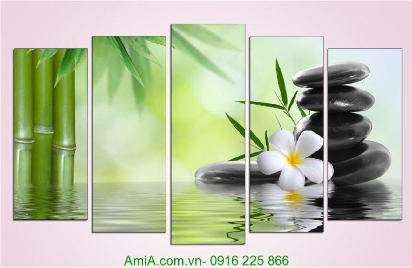tranh trang tri spa hoa da