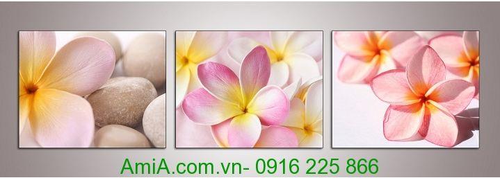 tranh hoa dai trang tri spa gia re