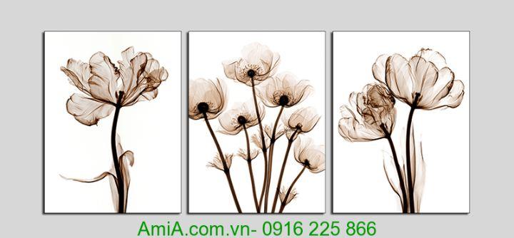 tranh ghep bo 3 tam hoa nghe thủa