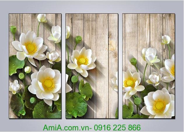 tranh dep hoa sen in 3d