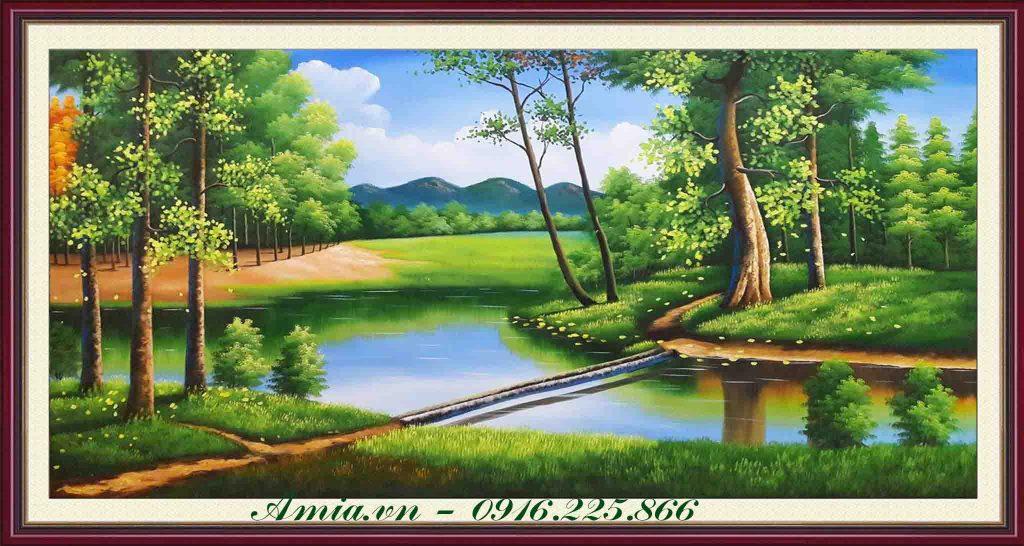tranh phong canh son dau khu rung chau au
