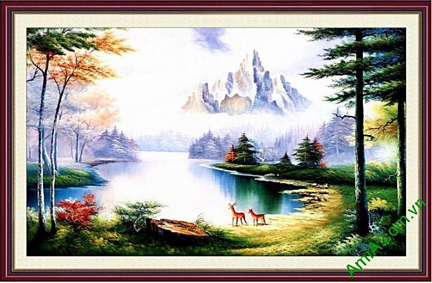 tranh phong canh khu rung o chau au
