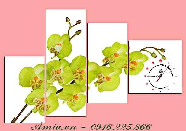 tranh cho phong mau kem nhanh hoa lan