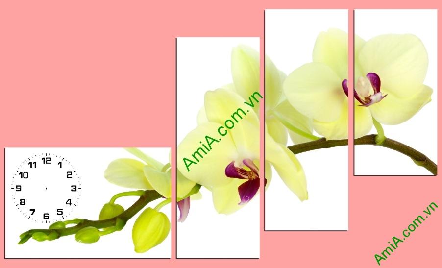 tranh cho tuong mau vang nhanh hoa lan