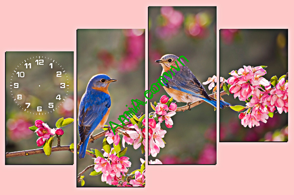 tranh treo phong ngu khach san doi chim
