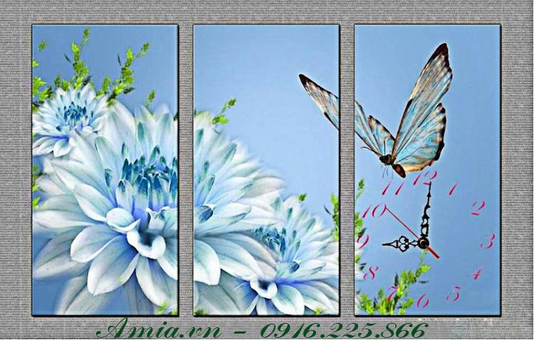 tranh khach san hoa thuoc duoc xanh va chu buom