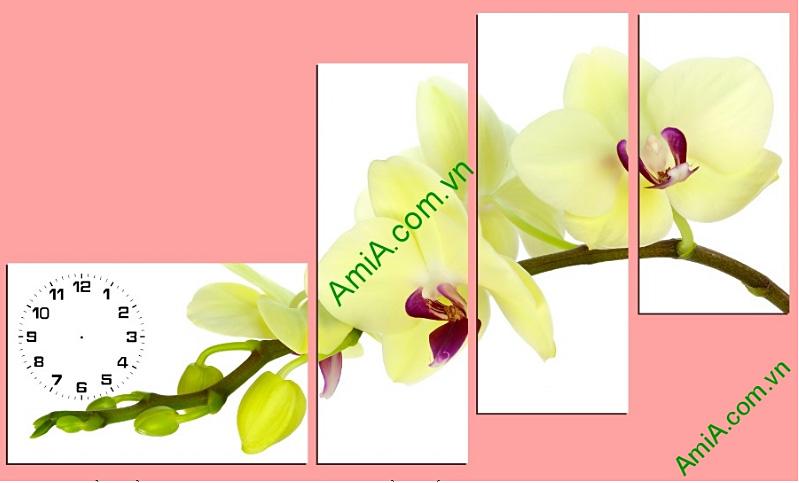 tranh hoa lan ngay tet trang tri phong khach