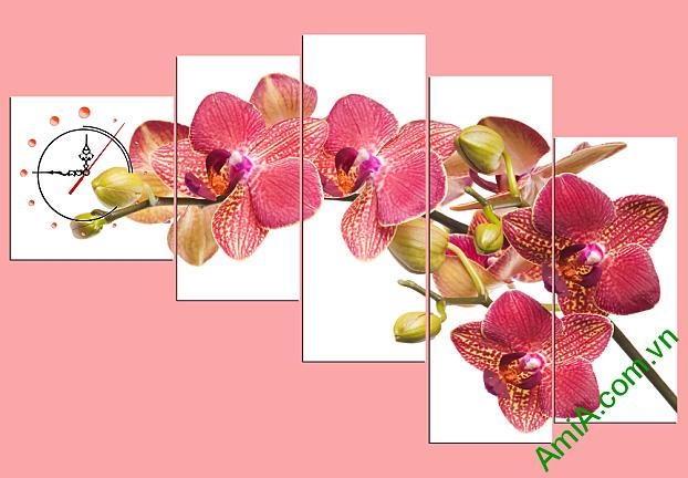 tranh treo tuong phong khach nhanh hoa lan phu quy