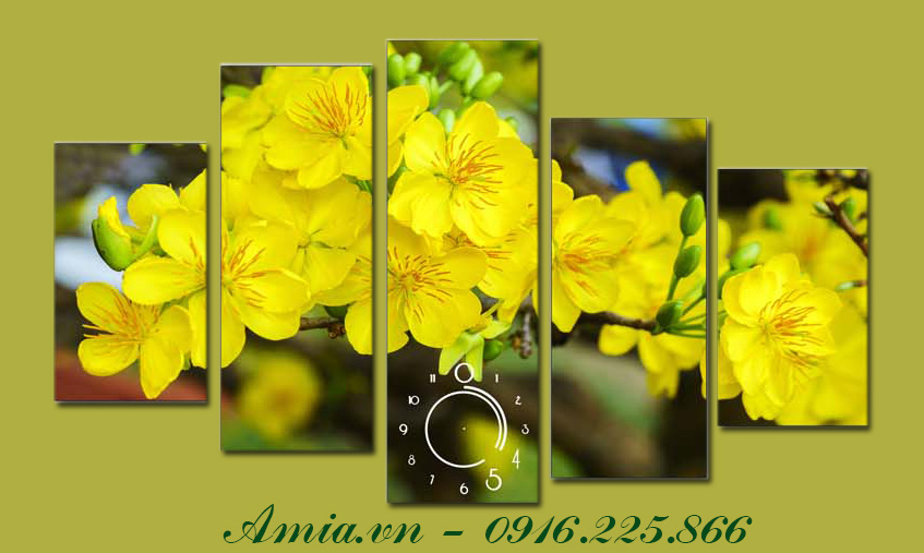 tranh treo tuong hoa mai vang