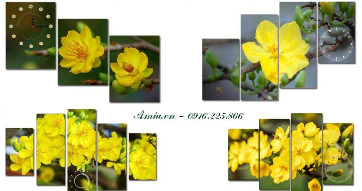 tranh hoa mai ngay tet mang den khong gian ruc ro cho can phong