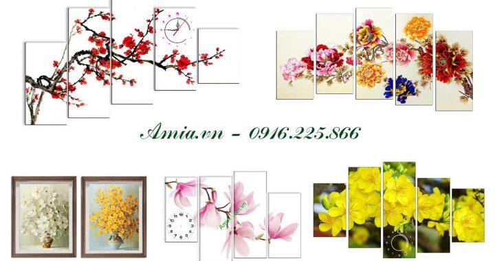nhung buc tranh hoa la lam qua tang cho sep nu