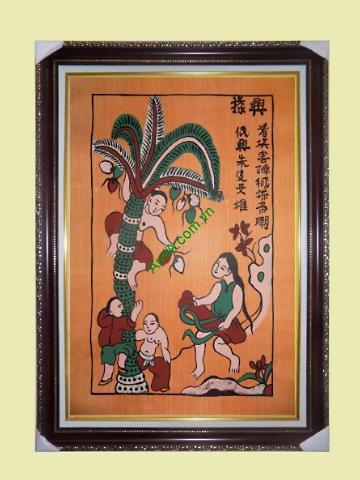 tranh dan gian hung dua trang tri phong nhu loi chuc phuc