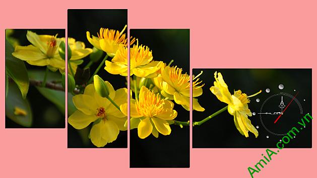 tranh tet nguyen dan hoa mai mang den su khoi dau moi