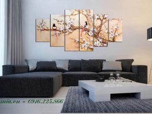 tranh tet doi chim xuan sum vay
