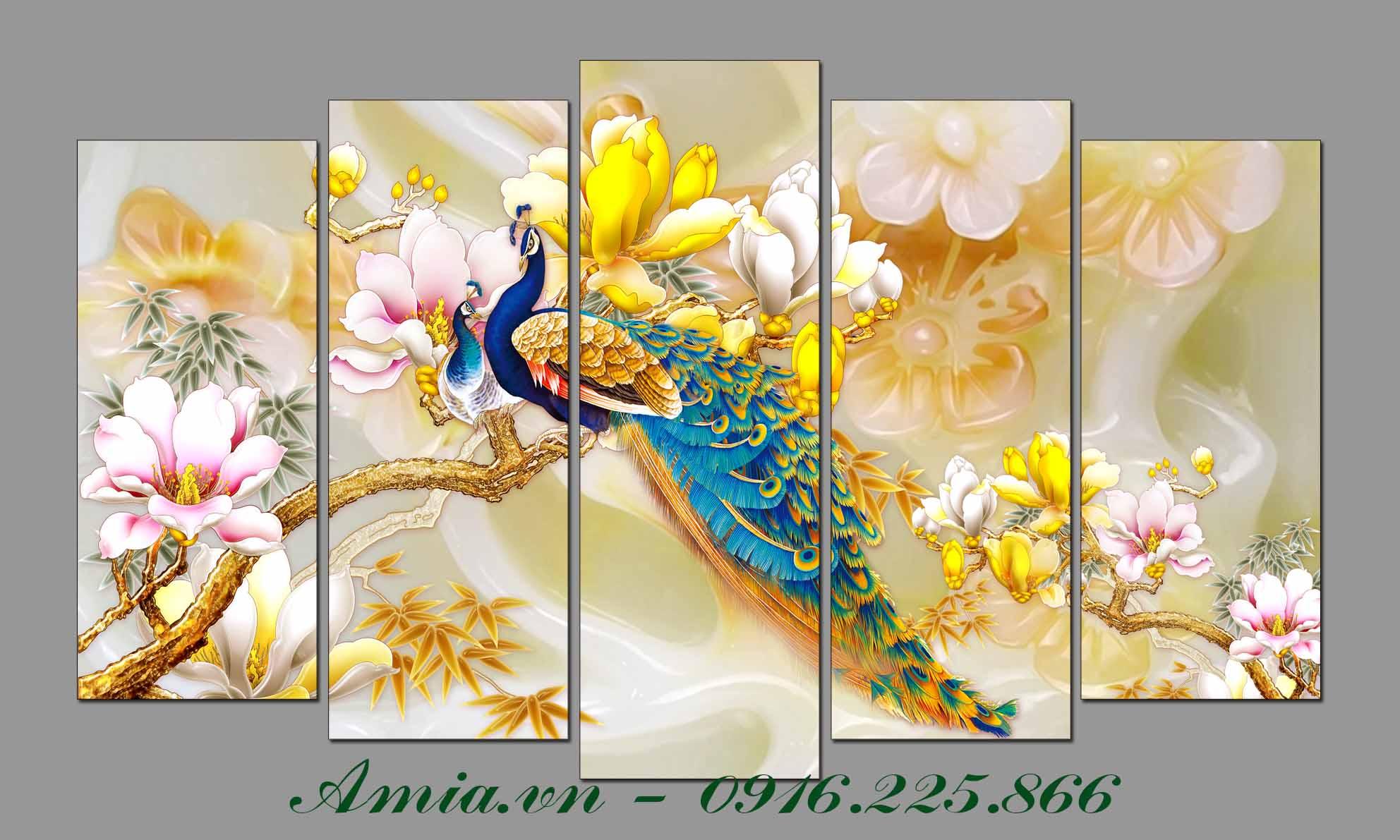 tranh song phung va hoa moc lan