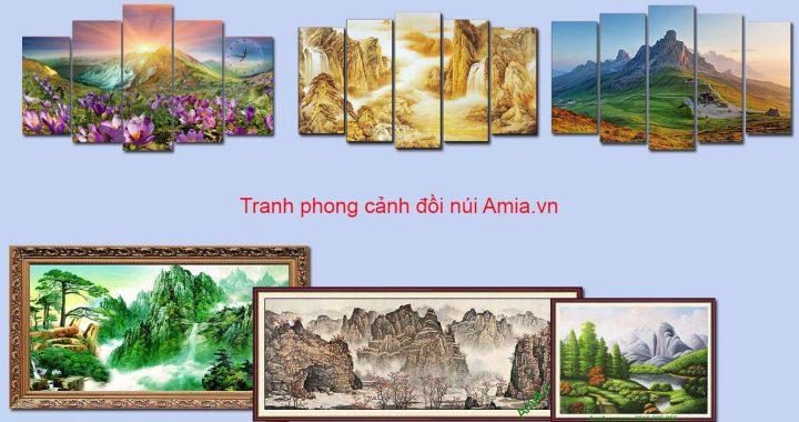 tranh phong canh doi nui trang tri phong