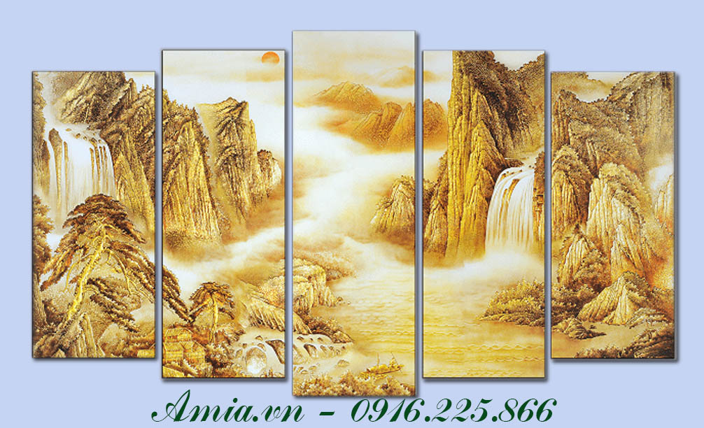 tranh phong canh doi nui hung vi thuoc hanh kim