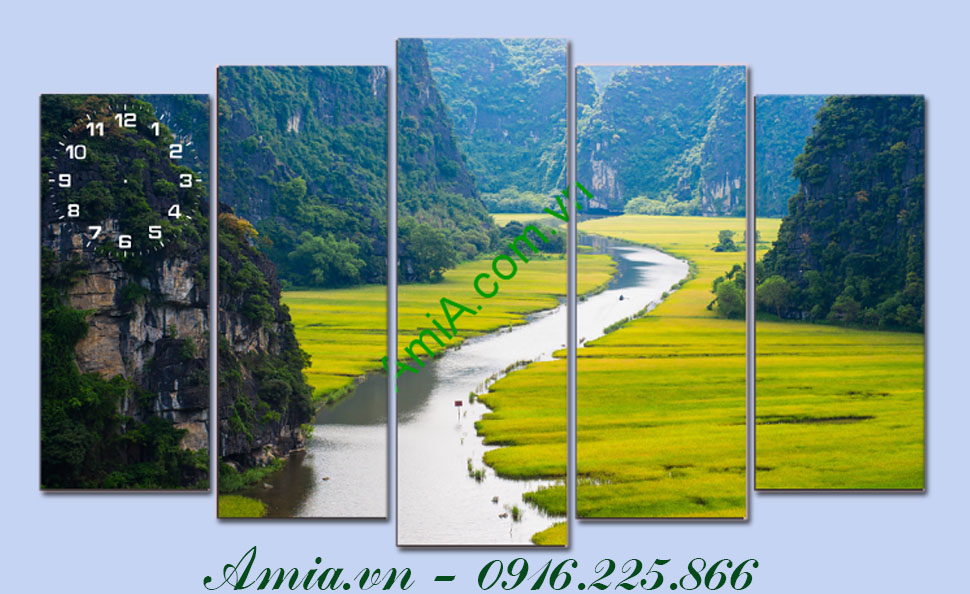 tranh phong canh doi nui viet nam ghep bo