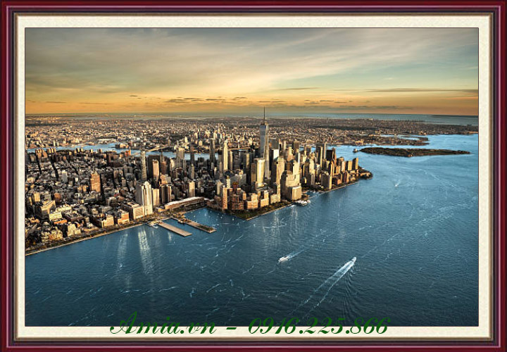 tranh phong canh thanh pho newyork