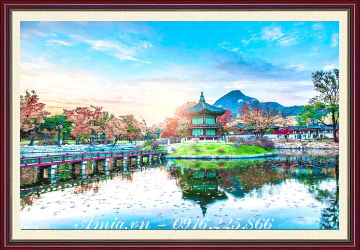 tranh phong canh han quoc dep