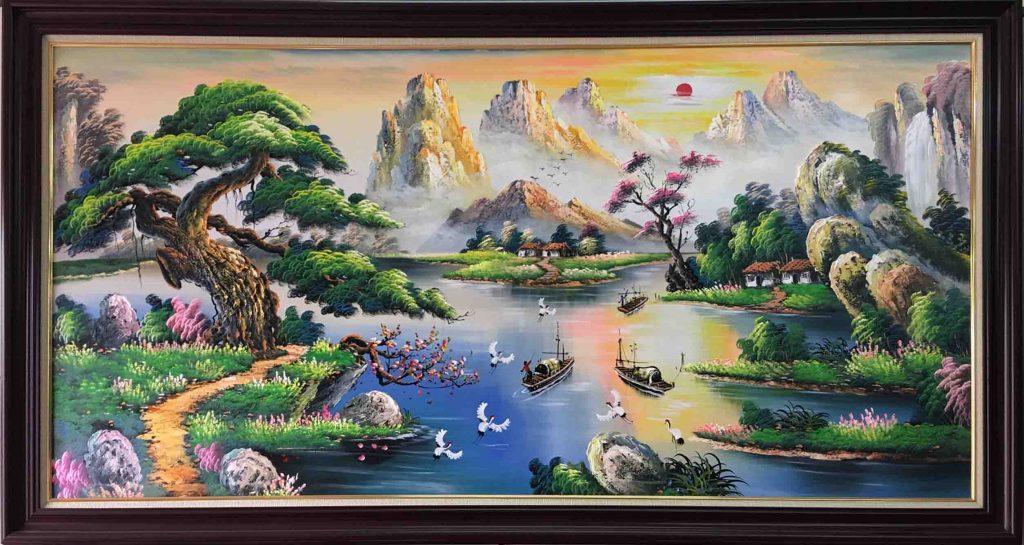 tranh phong canh huu tinh chon bong lai