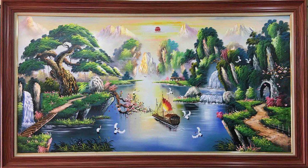 tranh phong canh son dau song nui huu tinh