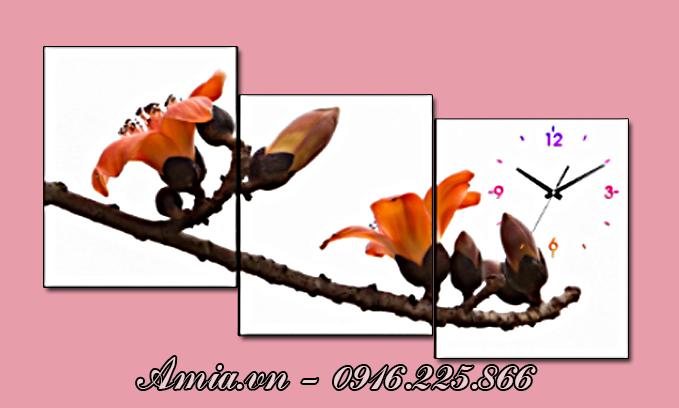 tranh treo phong khach bng hoa gao