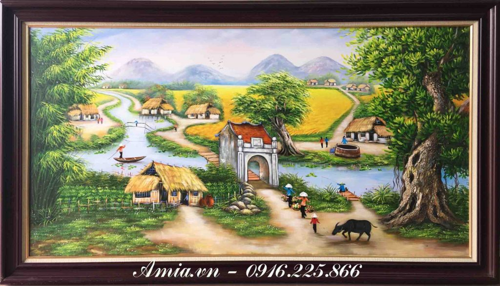 tranh khach san phong canh que huong