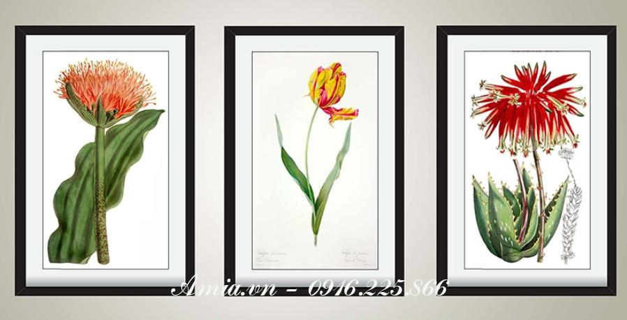 tranh ghep bo hoa la treo khach san
